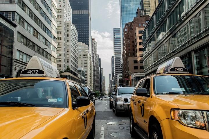 Taksówki w mieście